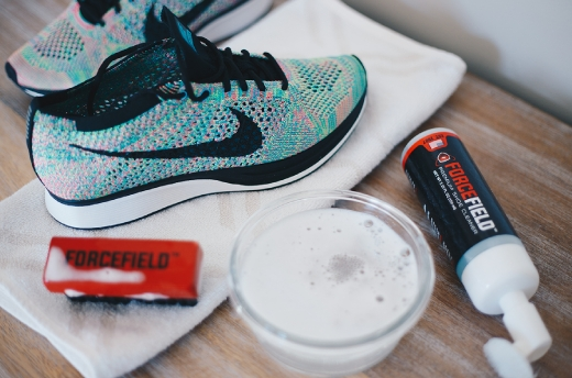 Treat your Nike FlyKnits to the ultimate cleaning solution with the ForceField Sneaker Cleaning Kit.